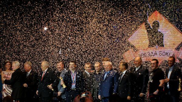 Совместное фото участников премии Звезда бокса