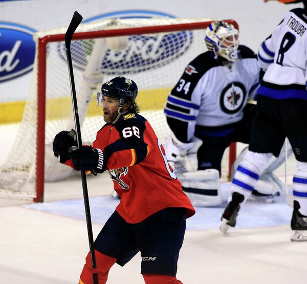 Форвард клуба НХЛ Флорида Пантерз Яромир Ягр (№68)