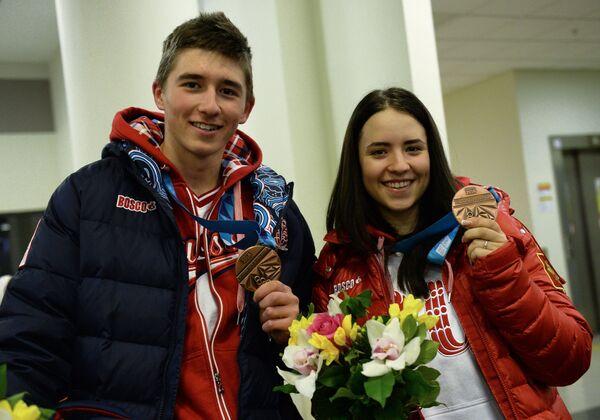 Биатлонисты Карим Халили и Екатерина Понеделко