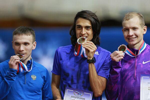Владимир Никитин, Ринас Ахмадеев и Егор Николаев (слева направо)