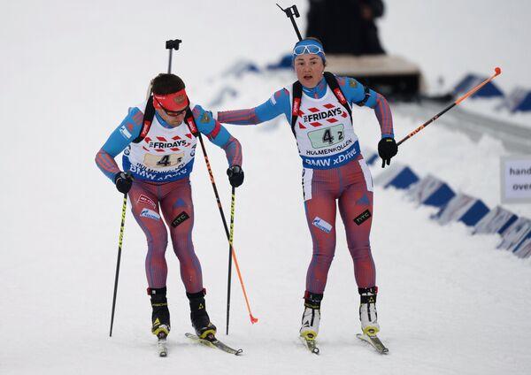 Екатерина Юрлова (Россия) (справа) и Евгений Гараничев (Россия)