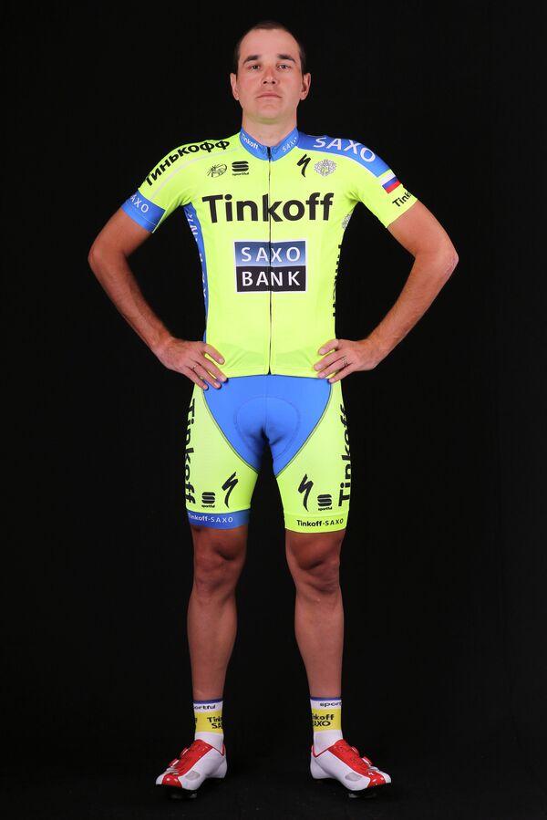 Российский велогонщик команды Tinkoff Николай Трусов