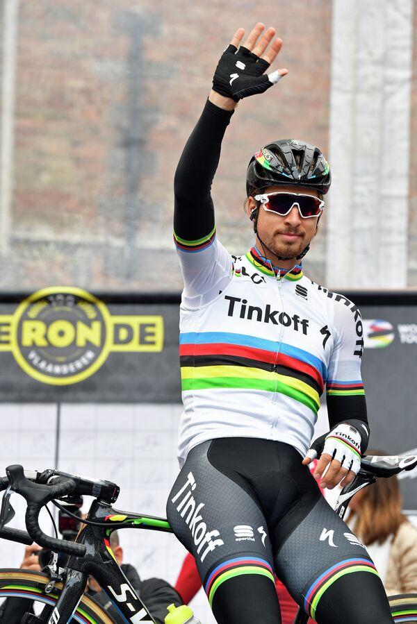 Словацкий велогонщик российской команды Tinkoff Петер Саган