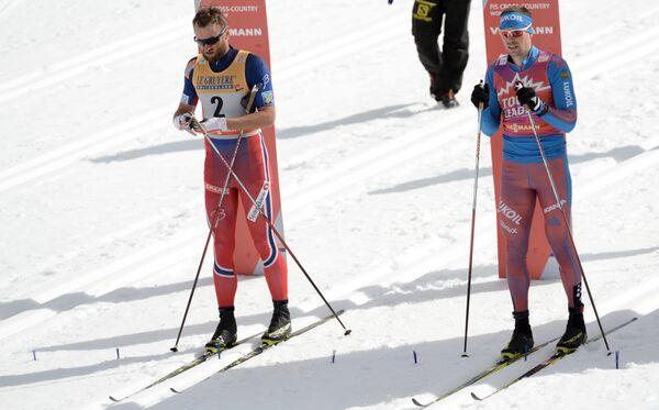 Петтер Нортуг (Норвегия) и Сергей Устюгов (Россия) (слева направо)
