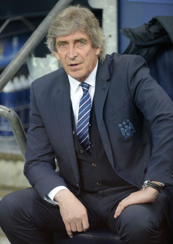 Главный тренер английского Манчестер Сити Мануэль Пеллегрини