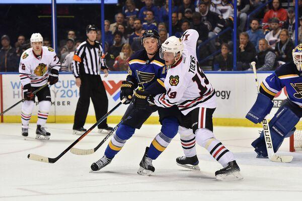 Игровой момент матча НХЛ Сент-Луис - Чикаго