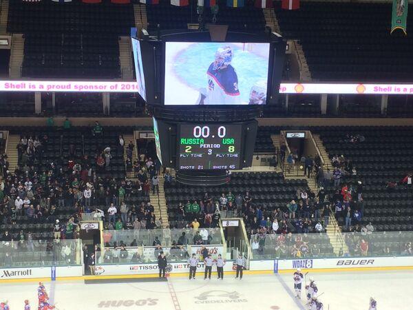 Результат матча юниорских сборных России и США на чемпионате мира