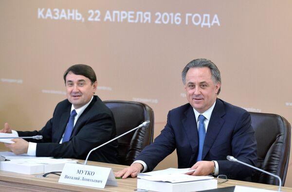Игорь Левитин (слева) и Виталий Мутко
