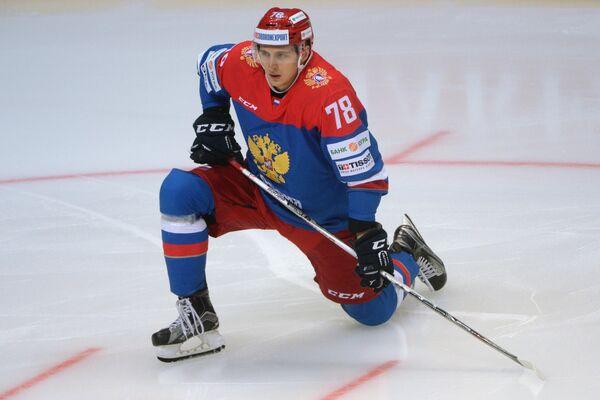 Хоккеист сборной России Максим Шалунов