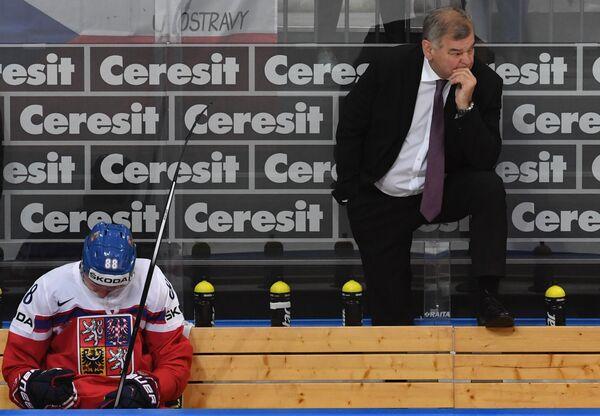 Главный тренер сборной Чехии Владимир Вуйтек после поражения