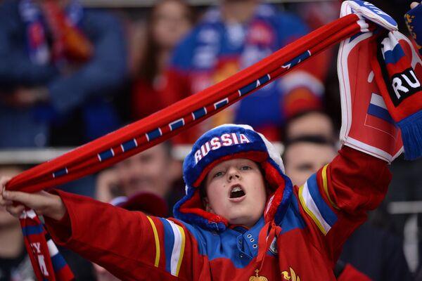 Юный болельщик сборной России