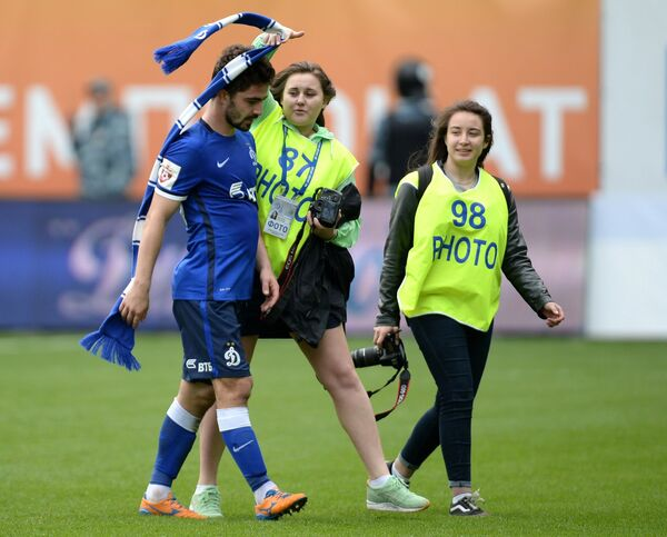 Игрок Динамо Антон Соснин после игры 30-го тура