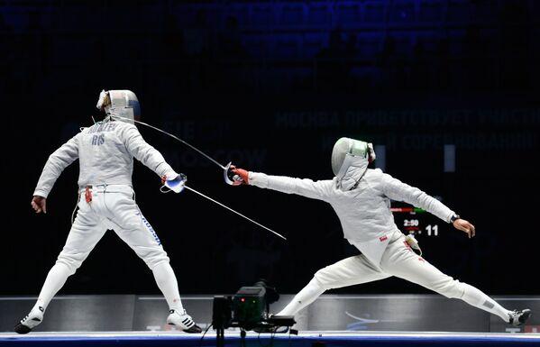 Слева направо: Николай Ковалев (Россия) и Ким Чжунхван (Корея)