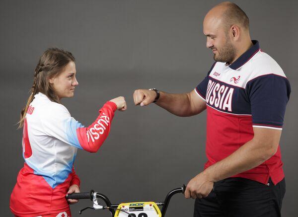 Ярослава Бондаренко и главный тренер сборной России по BMX Павел Костюков