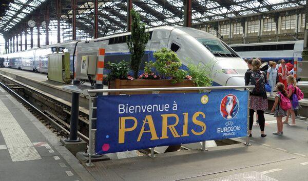 Железнодорожный вокзал во Франции накануне Евро-2016