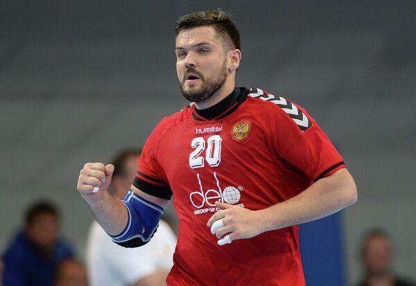 Игрок сборной России по гандболу Михаил Чипурин