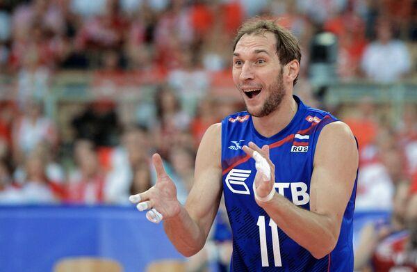 Блокирующий сборной России Андрей Ащев