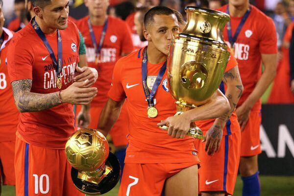 Нападающий сборной Чили Алексис Санчес