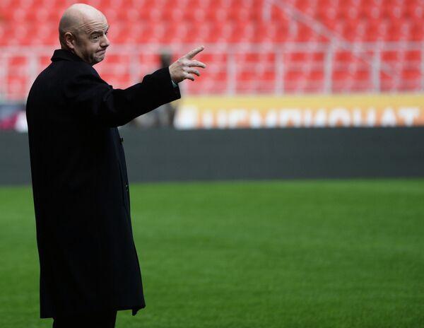 Президент Международной федерации футбола (ФИФА) Джанни Инфантино