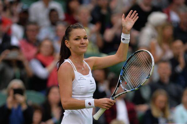 Агнешка Радваньская на Уимблдонском теннисном турнире