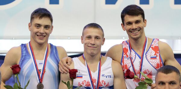 Никита Игнатьев, Денис Аблязин и Николай Куксенков (слева направо)