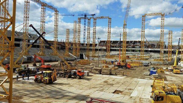 Строительство стадиона в Саранске к ЧМ-2018