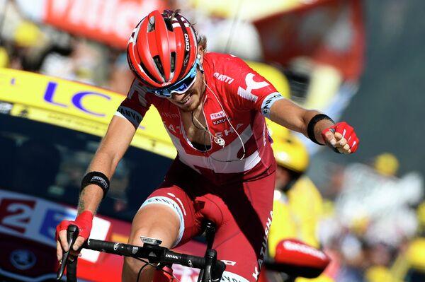 Ильнур Закарин на финише 17-го этапа Тур де Франс