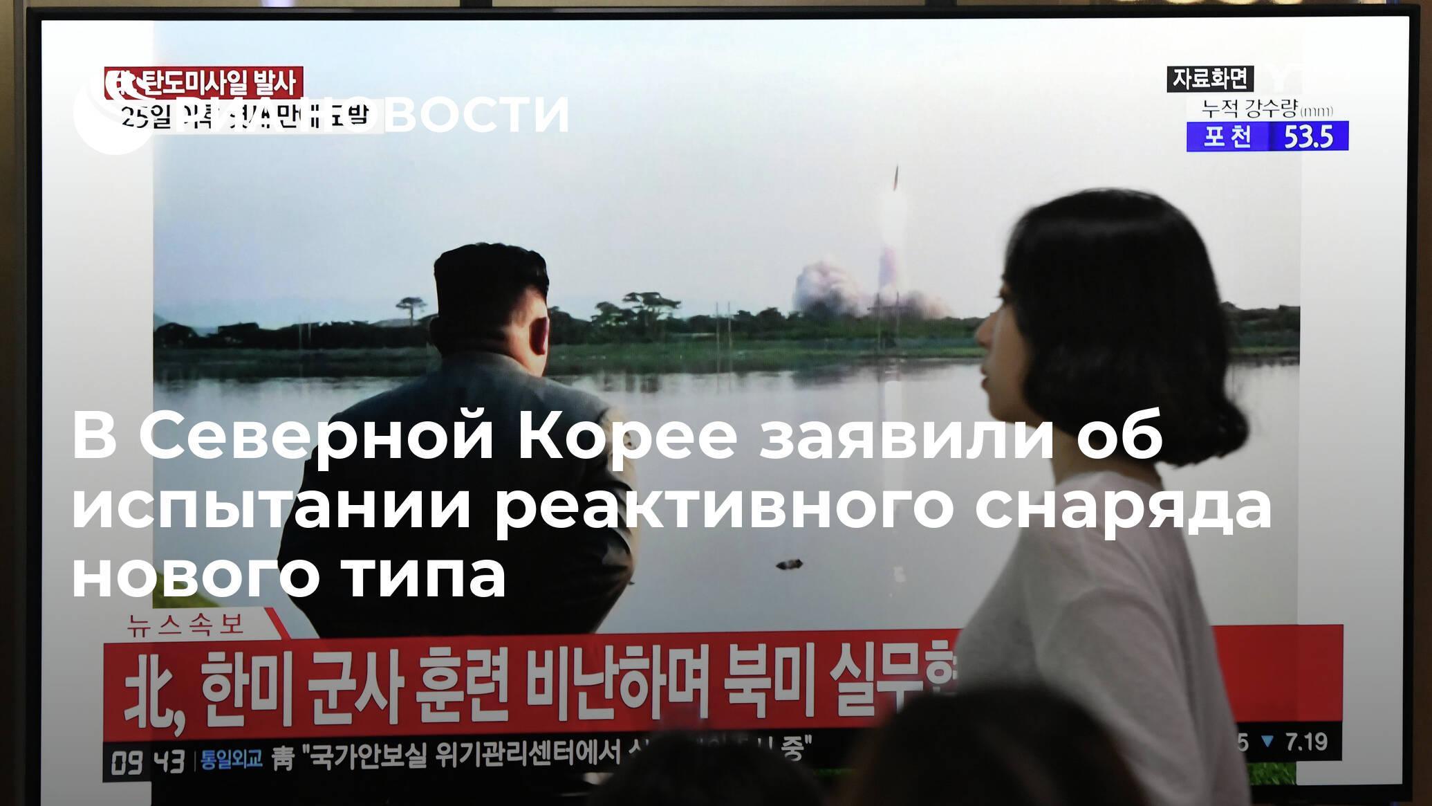 В Северной Корее заявили об испытании реактивного снаряда ...