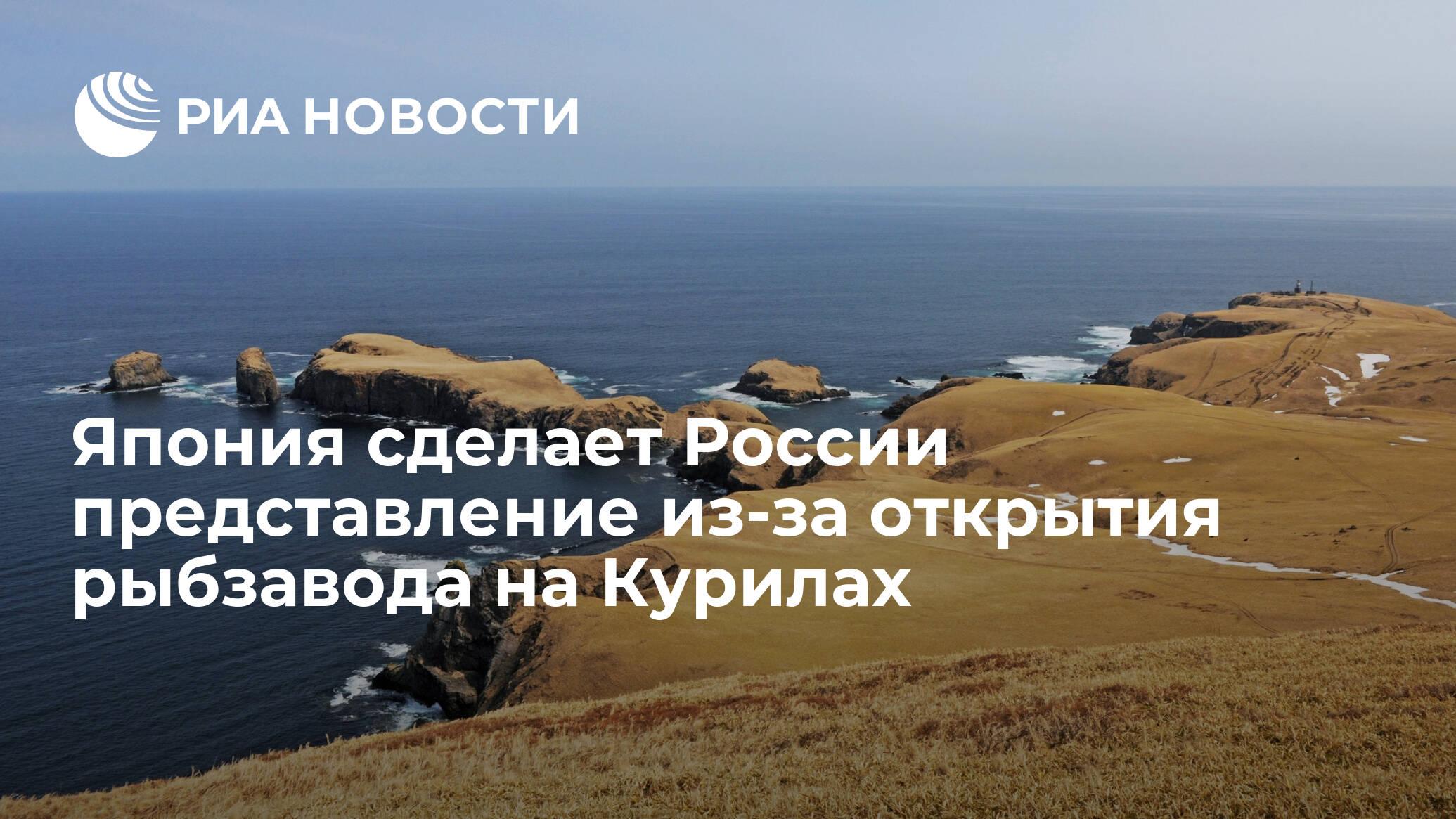 Япония сделает России представление из-за открытия рыбзавода на Курилах