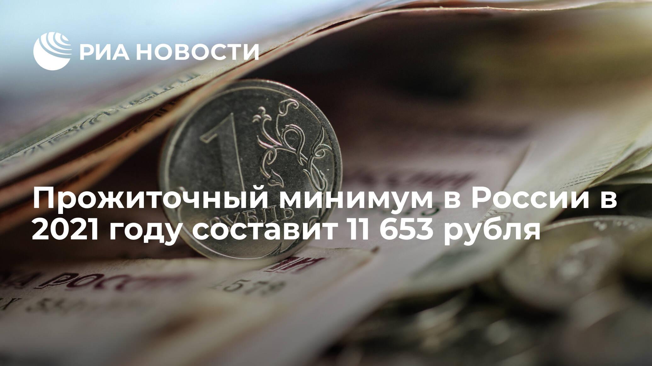 В России установили величину прожиточного минимума на 2021 год - РИА НОВОСТИ